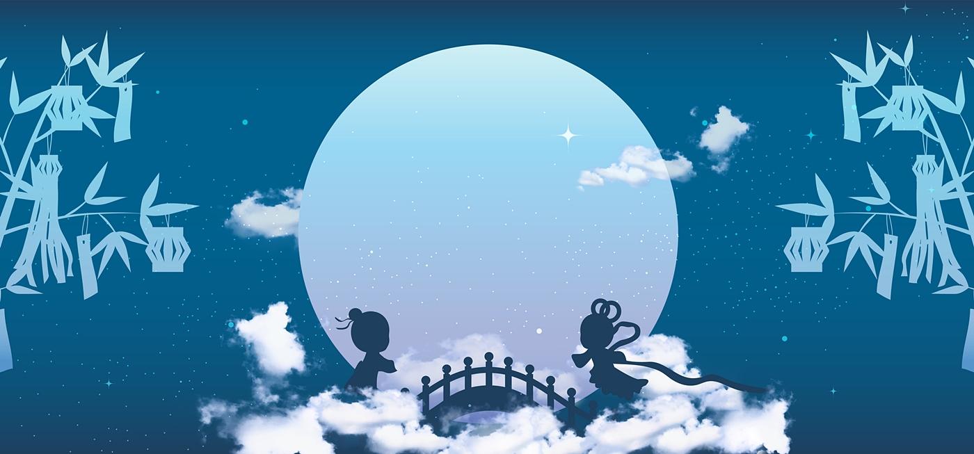 織姫と彦星が出会うイラスト